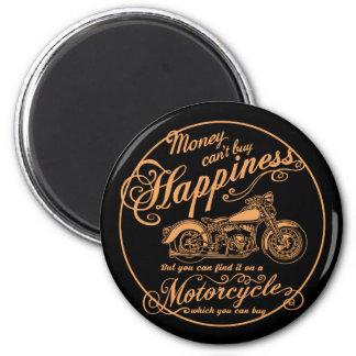 Glück - Motorrad Runder Magnet 5,7 Cm