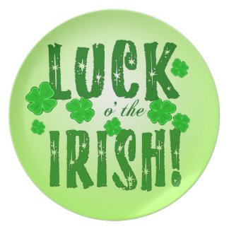 Glück O, das der irische sieben glückliche Klee Melaminteller