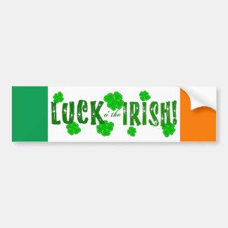 Glück O der irische sieben glückliche Autoaufkleber