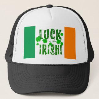 Glück O die irisches glückliches Truckerkappe