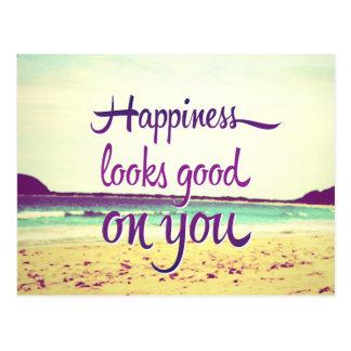 Glück schaut auf Ihnen gut Postkarte