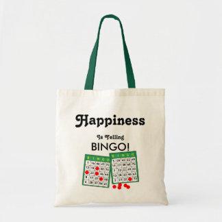 Glück schreit Bingo! Bingo-Liebhaber-Tasche Budget Stoffbeutel