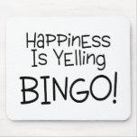 Glück schreit Bingo Mousepad