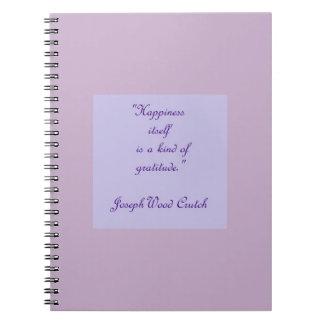 Glück selbst ist eine Art Dankbarkeits-Notizbuch Notizblock