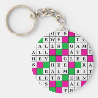 Glück-und Glück-Kreuzworträtsel Schlüsselanhänger
