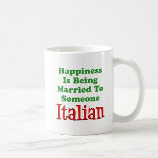 Glück verheiratet zu jemand italienisch tasse