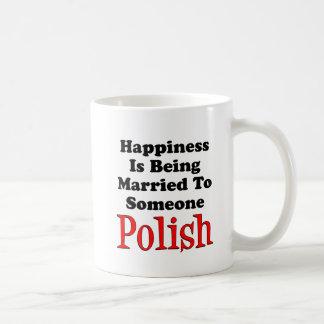 Glück verheiratet zu jemand Polnisches Tasse