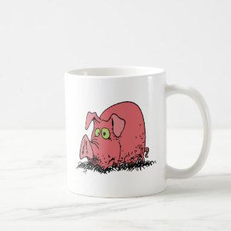 Glücklich als Schwein im Schlamm Kaffeetasse