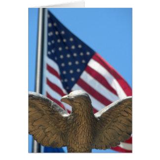 Glücklich am 4. Juli - Eagle u. US-Flagge Grußkarte