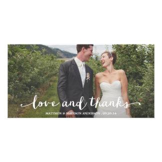 Glücklich danken verheiratete Wedding | Ihnen Photo Karten