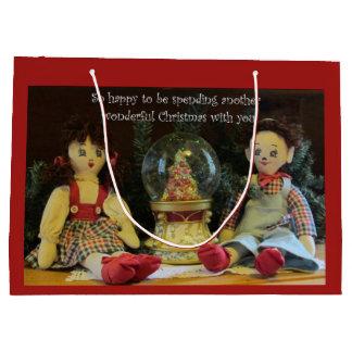 Glücklich, ein anderes Weihnachten mit Ihnen Große Geschenktüte