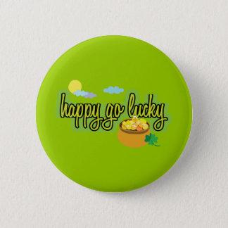 Glücklich gehen Knopf glücklicher Runder Button 5,1 Cm