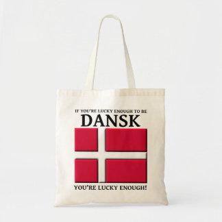 Glücklich genug Dansk dänische Taschen-Tasche sein Budget Stoffbeutel