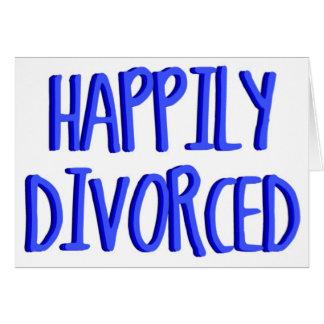 Glücklich, geschiedener Mann zu sein Karte