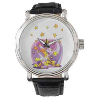 Glücklich-Glücklich-Freude-Freude Stern-Gaffer Armbanduhr