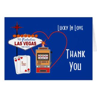 Glücklich im Liebe-Blau danke Karten