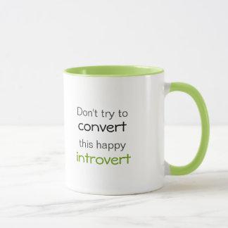 Glücklich Introvert Tasse