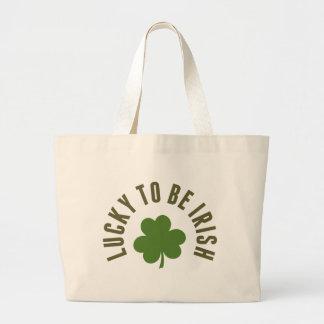 Glücklich irisch sein jumbo stoffbeutel