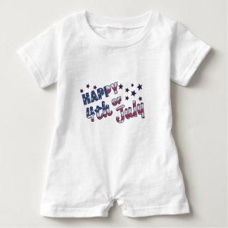Glücklich Juli 4. Baby Strampler