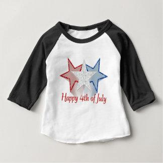 Glücklich Juli 4. Baby T-shirt