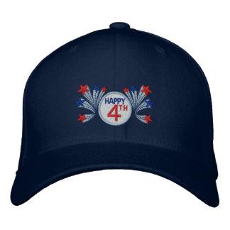 Glücklich Juli 4. Bestickte Mütze