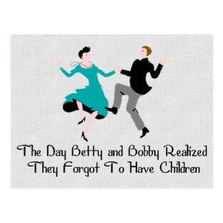 Glücklich, Kind zu sein geben Sie frei Postkarte