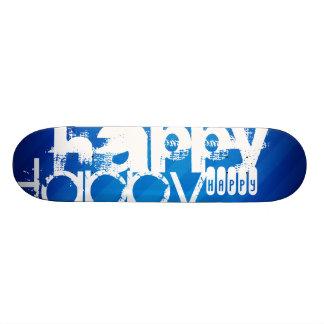 Glücklich; Königsblau-Streifen Individuelle Skatedecks