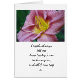 Glücklich Sie haben Blumenkarte Karte