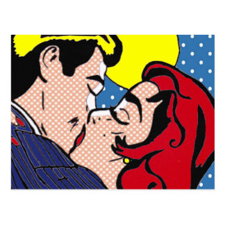 Glücklich überhaupt nach Pop-Kunst-Postkarte Postkarte