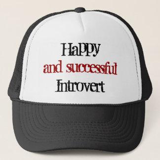Glücklich und erfolgreich introvert truckerkappe