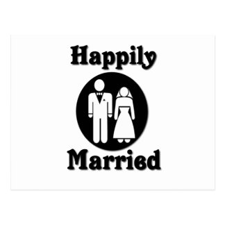 Glücklich verheiratet postkarte