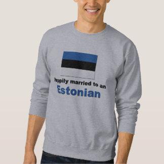 Glücklich verheiratet zu einem estnischen sweatshirt