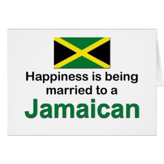 Glücklich verheiratet zu einem jamaikanischen karte