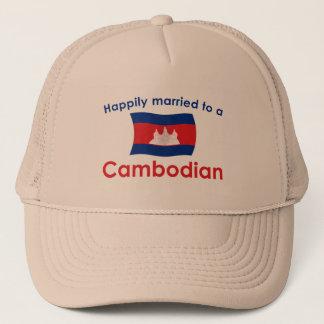 Glücklich verheiratet zu einem Kambodschaner Truckerkappe