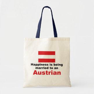 Glücklich verheiratet zu einem Österreicher Tasche