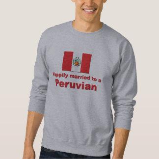 Glücklich verheiratete Peruaner Sweatshirt