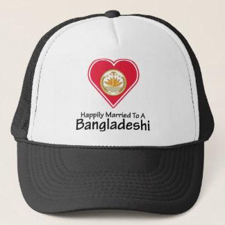 Glücklich verheirateter Bangladeshi Truckerkappe