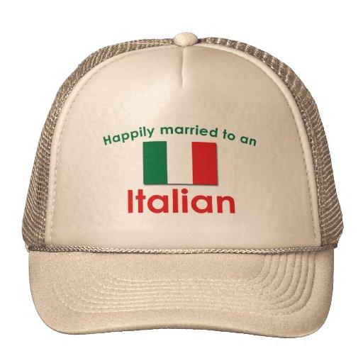 Glücklich verheirateter Italiener Baseball Mützen