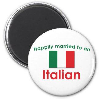 Glücklich verheirateter Italiener Runder Magnet 5,1 Cm
