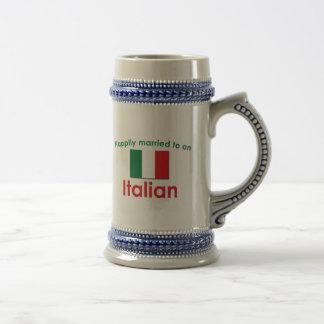 Glücklich verheirateter Italiener Kaffee Tasse