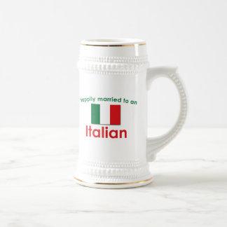 Glücklich verheirateter Italiener Bierkrug