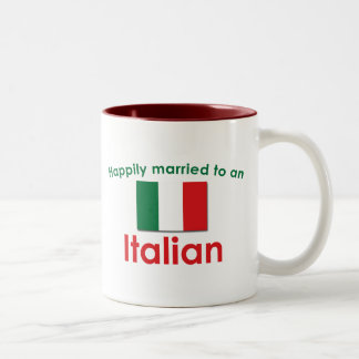 Glücklich verheirateter Italiener Zweifarbige Tasse