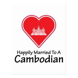 Glücklich verheirateter Kambodschaner Postkarte