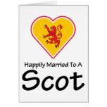 Glücklich verheirateter Schotte Grußkarte