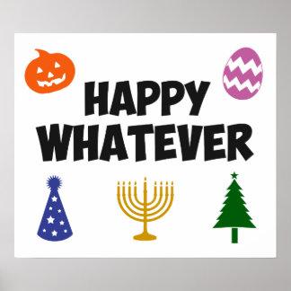 Glücklich was Feiertag Poster