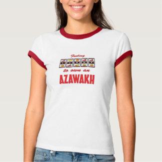 Glücklich zu eigenem ein Azawakh Spaß-Hundeentwurf T-Shirt
