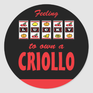 Glücklich zu eigenem ein Criollo-Spaß-Pferdeentwur Aufkleber