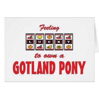 Glücklich zu eigenem ein Gotland-Pony-Spaß-Entwurf Karte