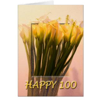 Glückliche 100. Geburtstags-Gruß-Karte Karte