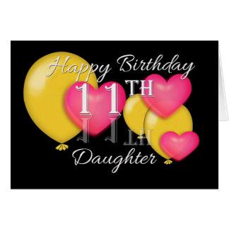 Glückliche 11. Geburtstags-Tochter Karte